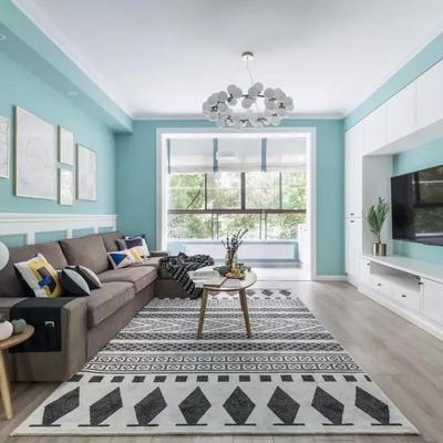 东莞房子雷火电竞平台110平新房刷了大蓝墙,看下什么效果